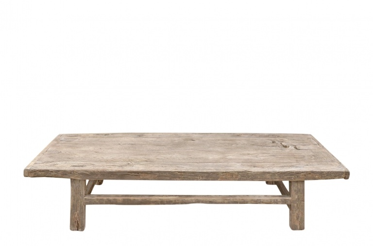 Snowdrops Copenhagen Coffee table vintage Elm Wood - L144x53xh33cm - unique piece