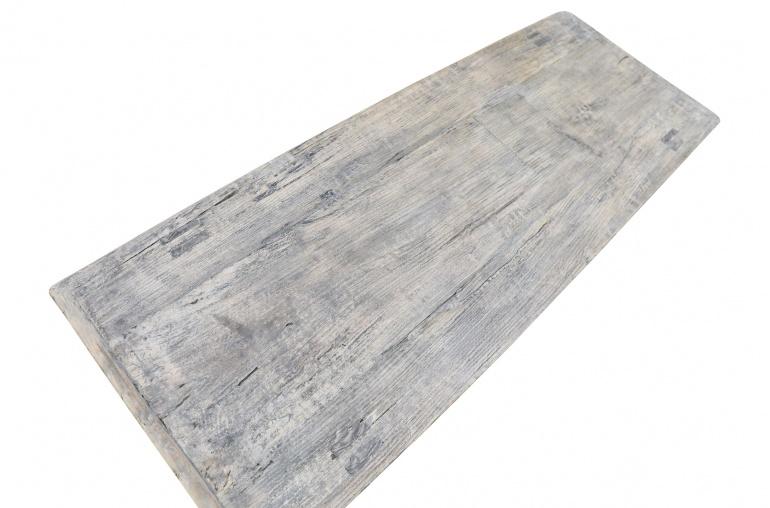 Snowdrops Copenhagen Table basse vintage bois d'orme brut - L130x46xh35cm - pièce unique
