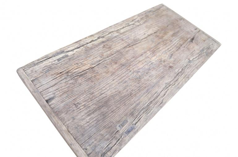 Snowdrops Copenhagen Table basse vintage bois d'orme brut - L116x55xh44cm - pièce unique