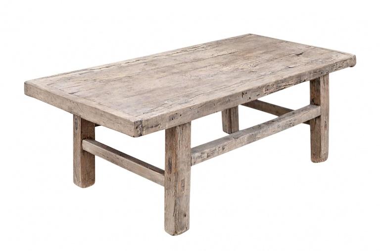 Snowdrops Copenhagen Coffee table vintage Elm Wood - L116x55xh44cm - unique piece