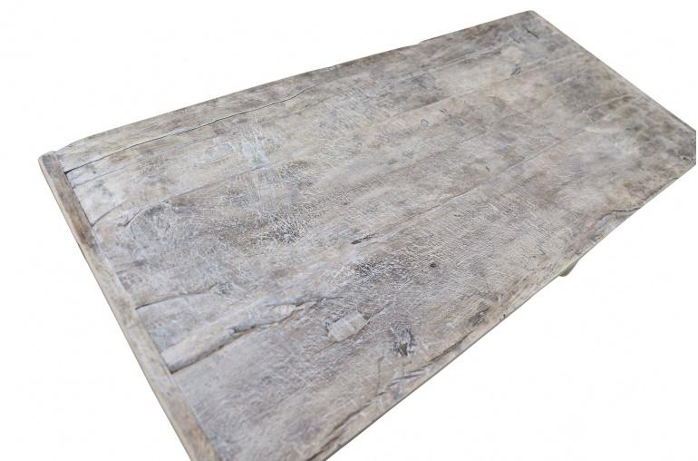 Snowdrops Copenhagen Coffee table vintage Elm Wood - L126x57xh45cm - unique piece