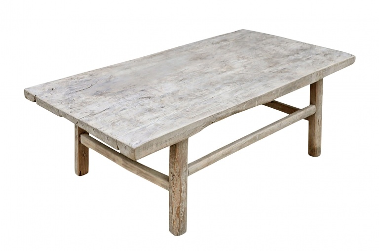 Snowdrops Copenhagen Coffee table vintage Elm Wood - L126x66xh43cm - unique piece