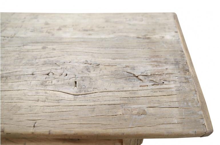 Petite Lily Interiors Console Table/bureau Vintage bois brut - L114x40xH80cm - pièce unique