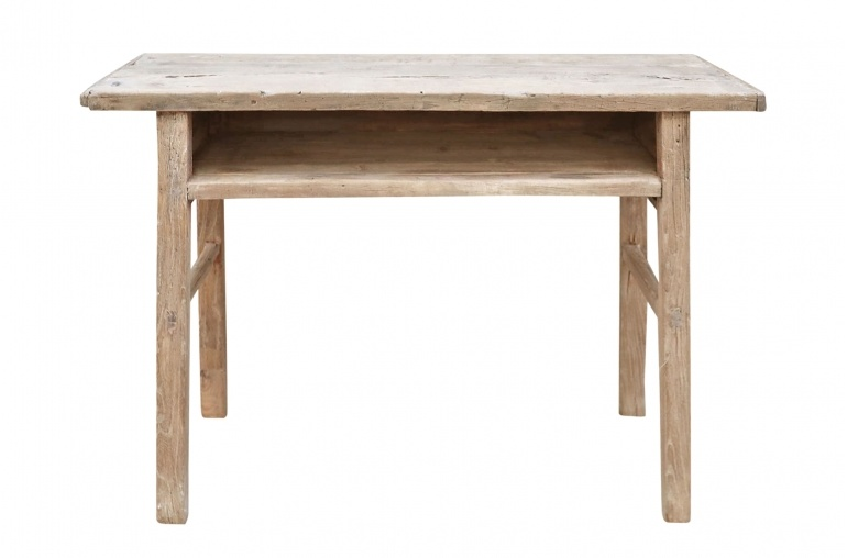 Petite Lily Interiors Console/desk vintage raw wood - L114x40xH80cm - unique piece