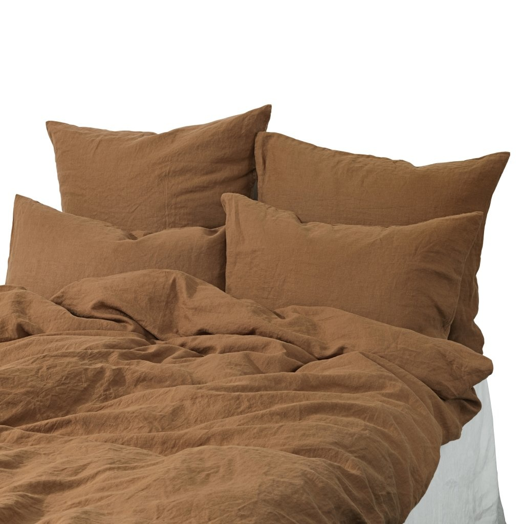 Tell me more Duvet cover 100% stonewashed linen - 220x240 - Amber - Tell me more