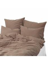 Tell me more Duvet cover 100% stonewashed linen - 220x240 - chestnut