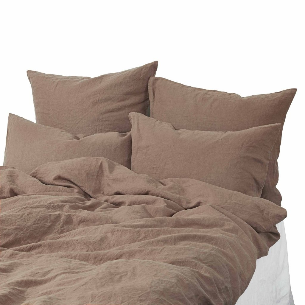Tell me more Duvet cover 100% stonewashed linen - 220x240 - chestnut
