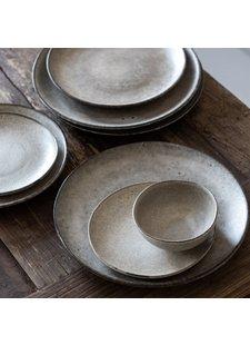 Tell me more Lot de 6 Assiettes grès 'Bon' style Ethnique - Ø21,5 cm