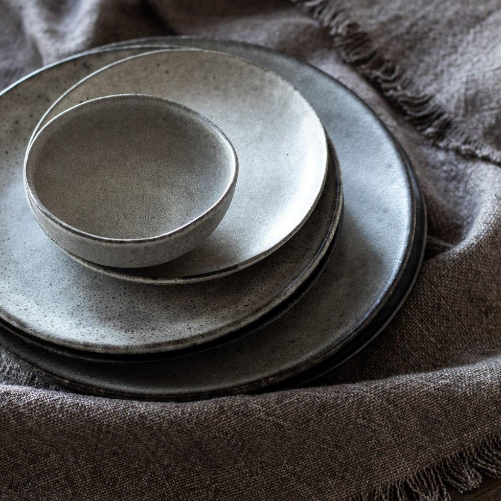 Tell me more 6 Assiettes dessert grès 'Bon' style Ethnique - Ø21,5 cm