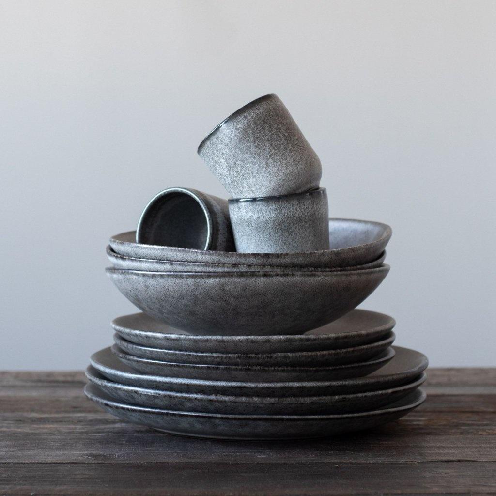 Tell me more Lot de 6 bols grès 'Bon' style Ethnique - Ø22xH6cm