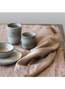 Tell me more Set of 6 cups large Stoneware - Ø8xH10,5cm
