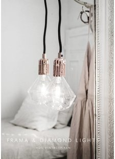 Suspension Lampe Diamant Frama vu sur vintagepiken.no