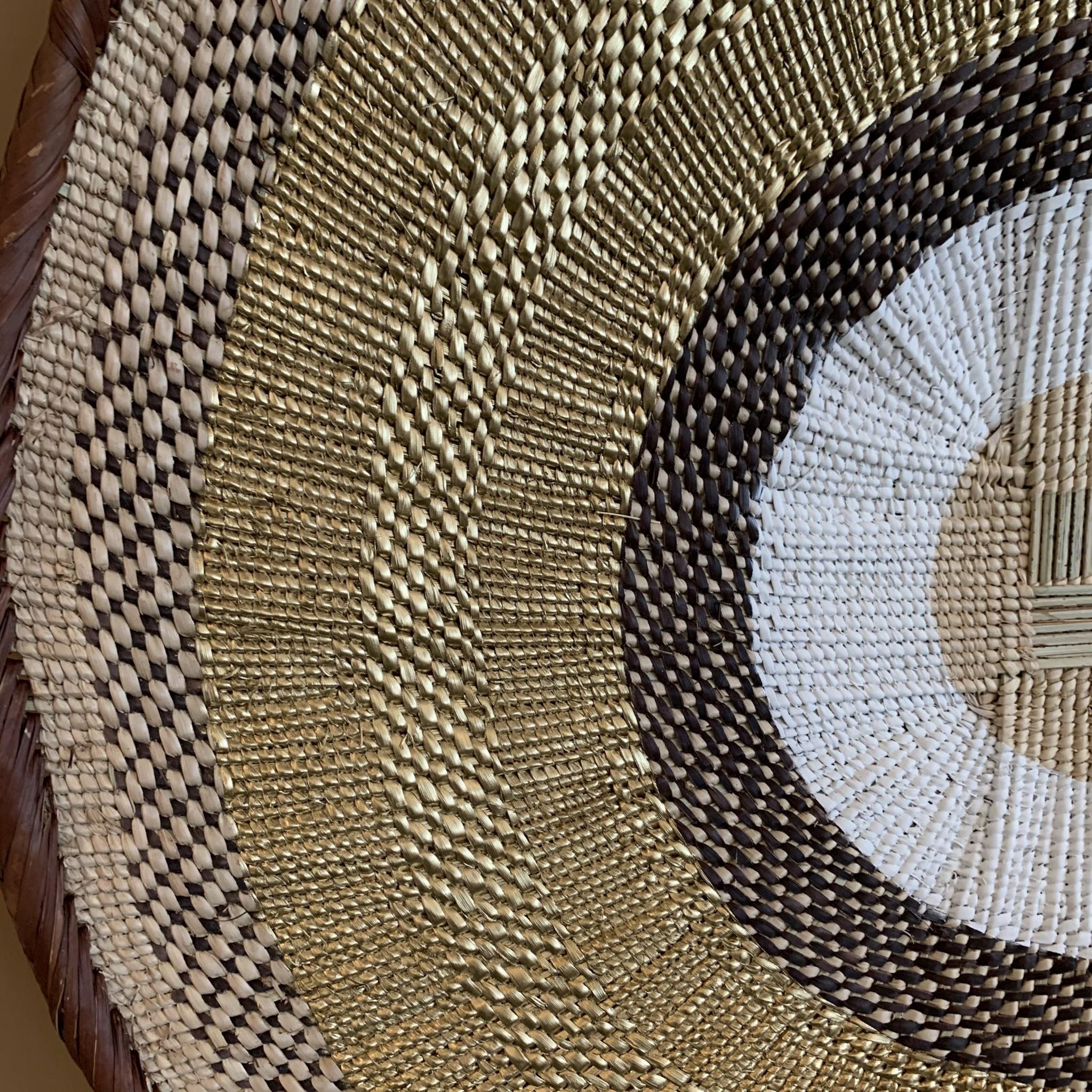 Petite Lily Interiors Panier mural Tonga M - naturel/or - Ø41-45cm