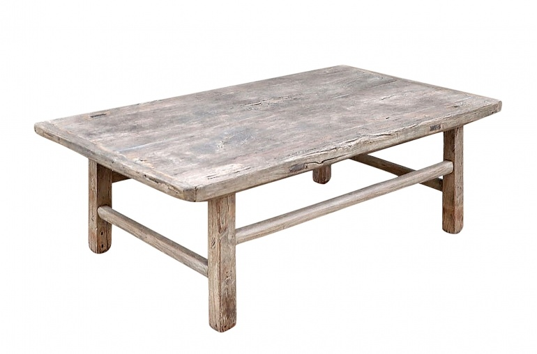 Snowdrops Copenhagen Table basse - Bois d'orme brut - 114x64x43cm - pièce unique