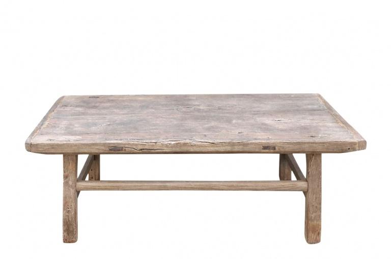 Snowdrops Copenhagen Raw wood coffee table - Elm wood - 114x64x43cm - Unique piece
