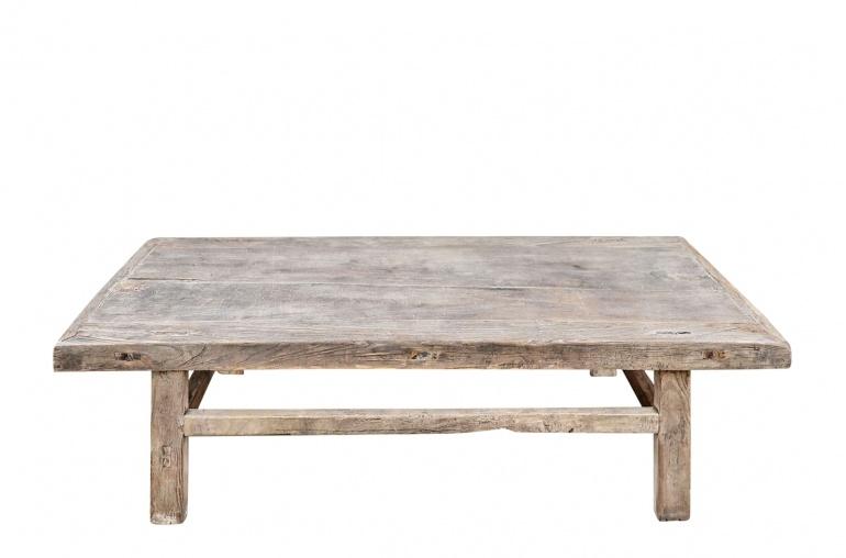 Snowdrops Copenhagen Table basse - Bois d'orme brut - 117x60x33cm - pièce unique