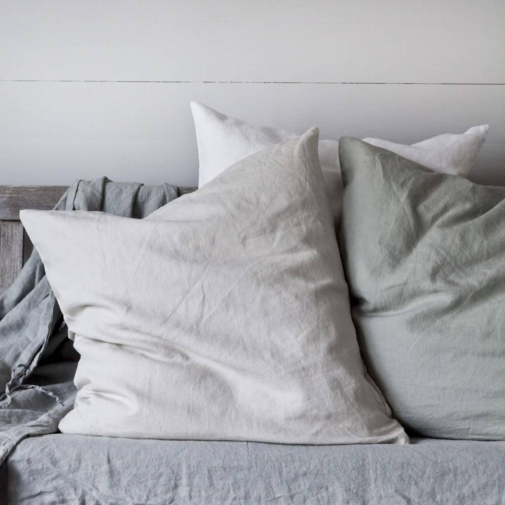 housse de couette 100 lin lav 240x220 gris clair. Black Bedroom Furniture Sets. Home Design Ideas