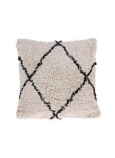 Petite Lily Interiors Cushion Berber - creme/black - 50x50cm