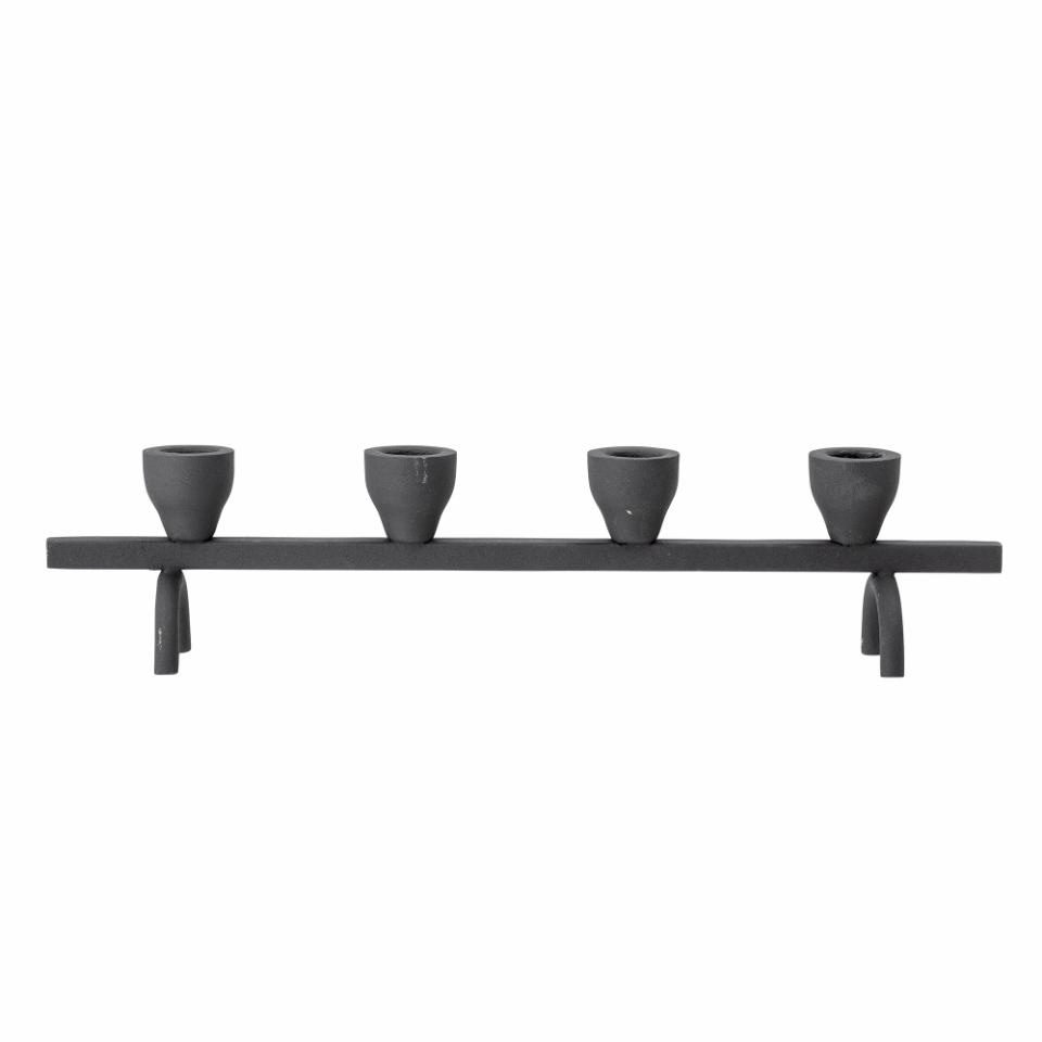 Bloomingville Candle Holder - black - L38xH9xW7cm - Bloomingville
