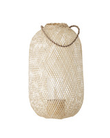 Bloomingville Bamboo and glass lantern - D35xH60 - natural