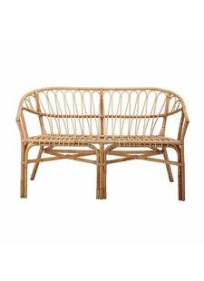 Bloomingville Rattan bench / Sofa - natural - L124xH76xW59