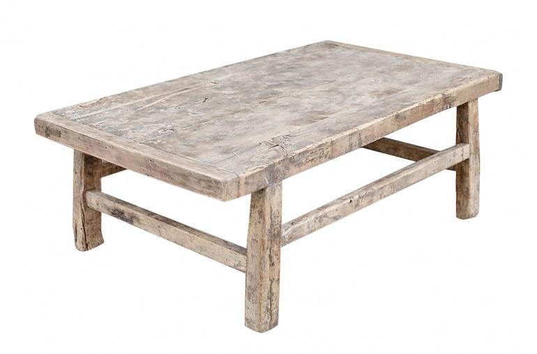 Snowdrops Copenhagen Coffee table vintage Raw Wood - 98x58xh38cm - unique piece