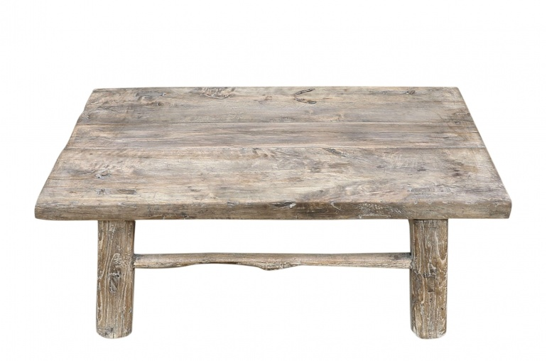 Snowdrops Copenhagen Coffee table vintage Raw Wood - 74x46x28cm - unique piece