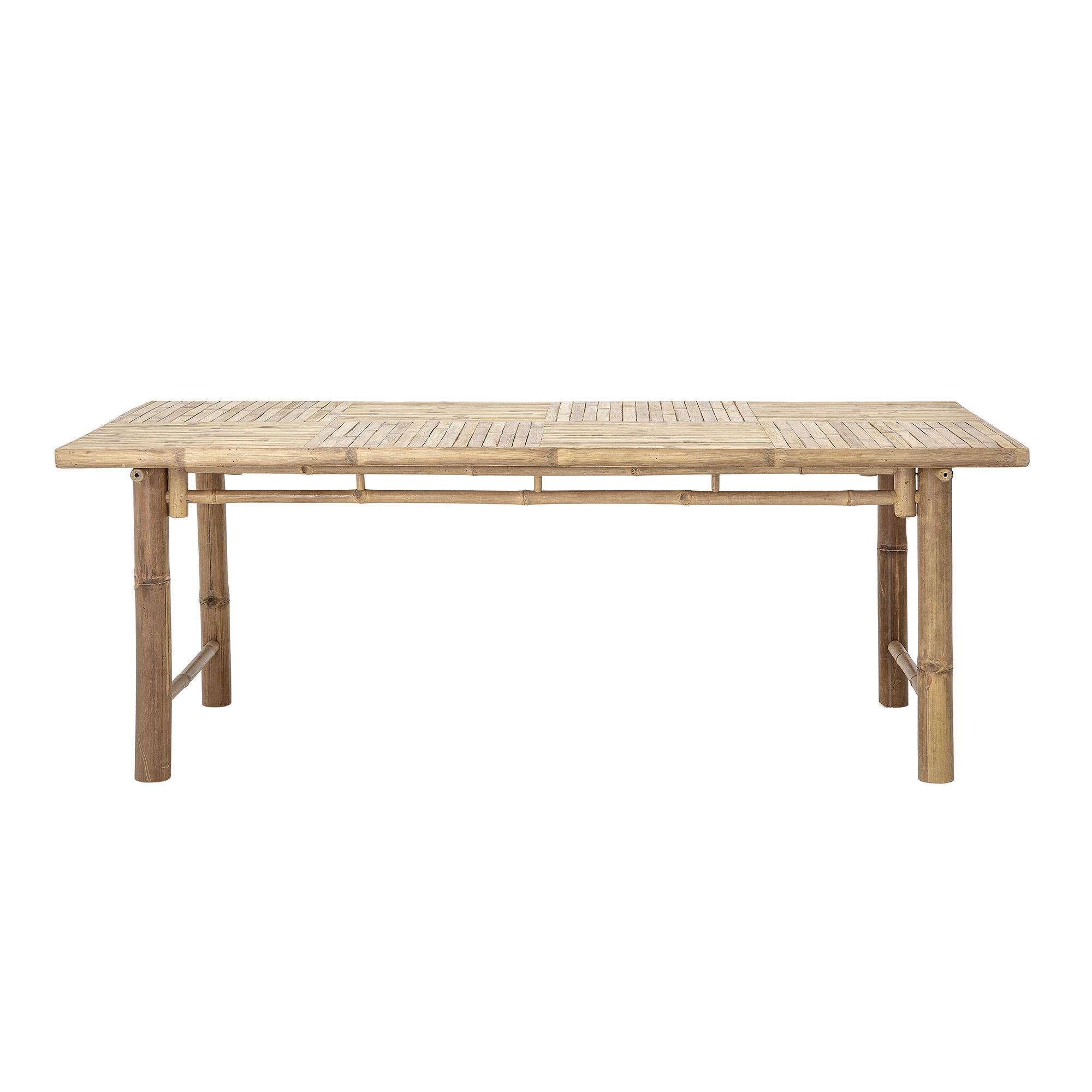 Bloomingville Table de jardin - bambou Naturel - L200xH74xW100 - Bloomingville