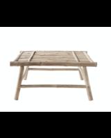 TineKHome Table basse de jardin en bambou - L70xH32xW70cm - TinekHome