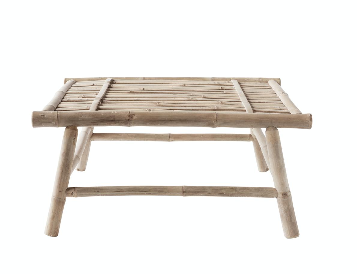 TineKHome Outdoor coffee table bamboo - L70xH32xW70cm - TinekHome