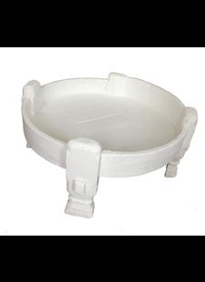 Petite Lily Interiors Table basse grinder indienne - blanche - Ø74xh37cm - Pièce unique