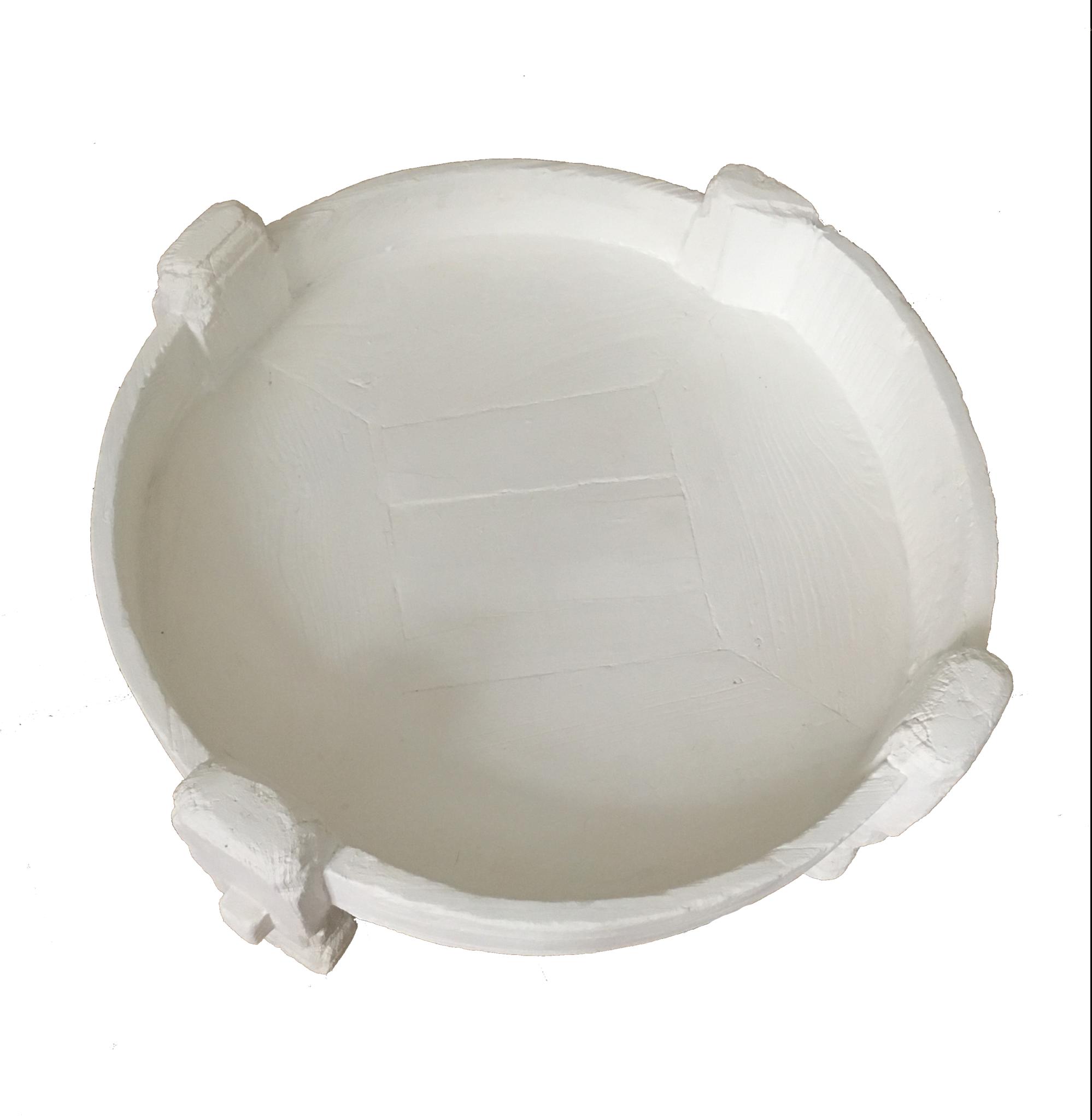 Petite Lily Interiors Indian coffee table grinder - white - Ø74xh37cm - Unique item