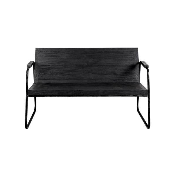Dareels Banc  / Canapé d'extérieur en teck - noir l - L114xH73xW78cm cm