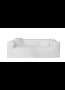 dareels Canapé en lin Strozzi - 2PL - blanc - 220x95xH65cm