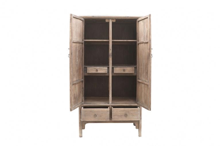 Petite Lily Interiors Cabinet Vintage - Bois d'orme - 100x52xh188cm - Unique Piece