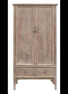 Petite Lily Interiors Cabinet Vintage - Bois d'orme - 100x52xh188cm