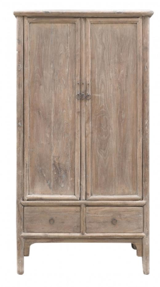 Petite Lily Interiors Armoire Vintage  - Bois d'orme - 100x52xh188cm - Piece Unique
