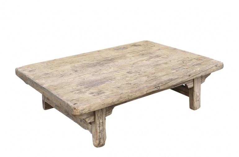 Snowdrops Copenhagen Table basse KANG - Bois d'orme- 87x44x27cm - pièce unique