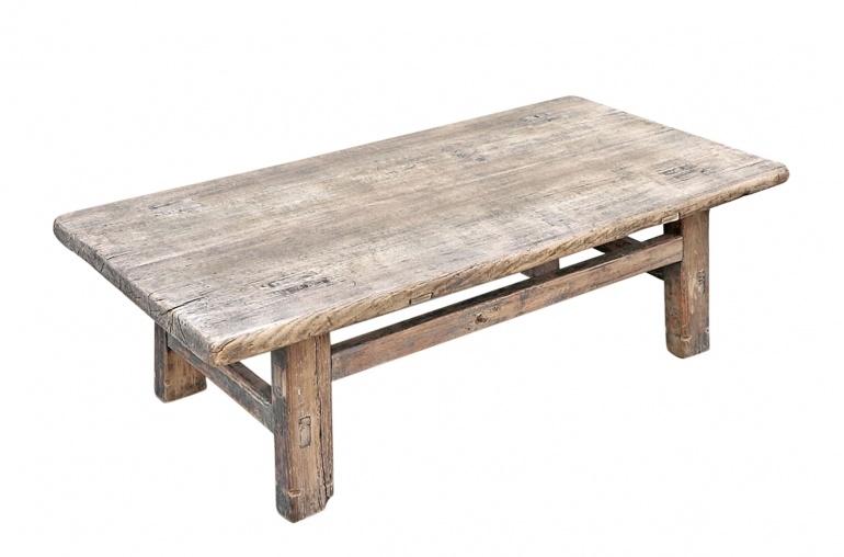 Snowdrops Copenhagen Table basse KANG - Bois d'orme- 88x46x27cm - pièce unique