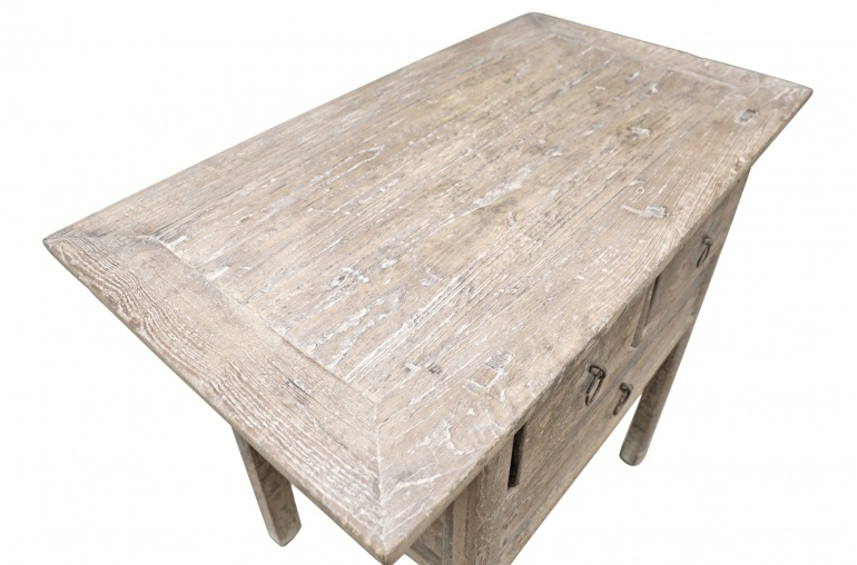 Petite Lily Interiors Console Table Vintage 3 tiroirs - L95x52xh85cm - pièce unique