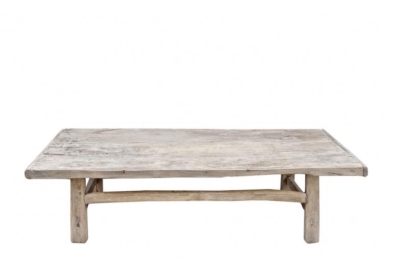 Snowdrops Copenhagen Coffee table vintage Raw Wood - 162x68xh44cm - unique piece