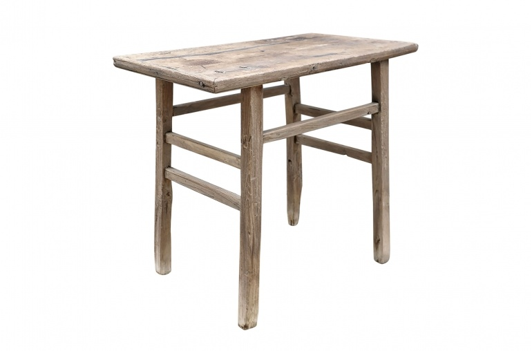 Petite Lily Interiors Table console vintage en Bois d'orme - Piece Unique - L98x55xh82cm