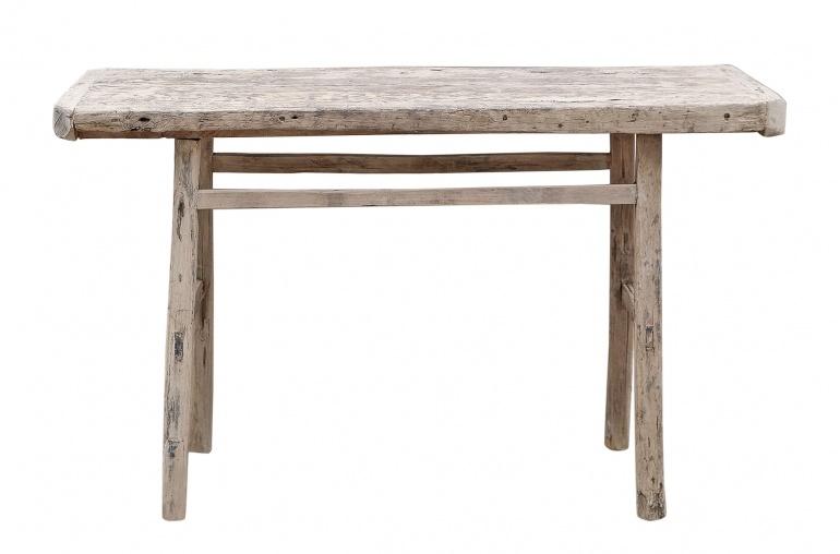 Petite Lily Interiors Table console vintage en Bois brut - 122x39xh77cm - Piece Unique