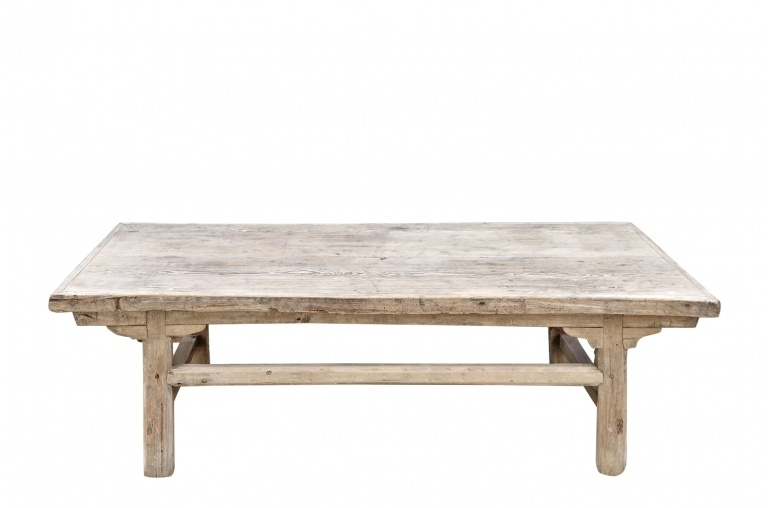 Petite Lily Interiors Coffee table vintage Raw Wood - 113x61xh36cm - unique piece
