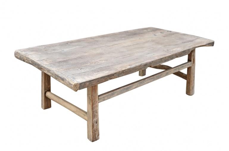 Petite Lily Interiors Coffee table vintage Raw Wood - 134x68xh44cm - unique piece
