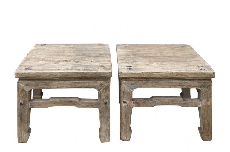 Petite Lily Interiors Raw wood side table - elm wood - 33x33xh30cm - unique item