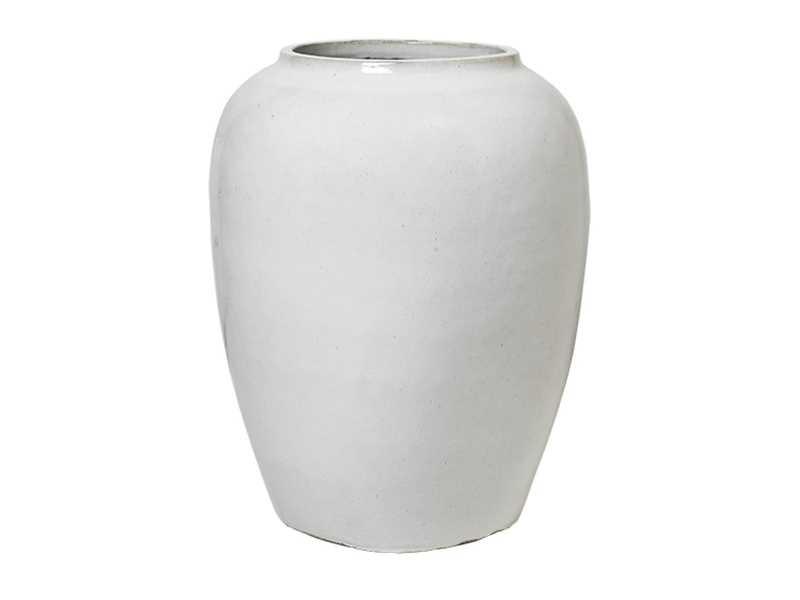 Broste Copenhagen Large floor flower pot / vase - Ø50xh64cm - off white