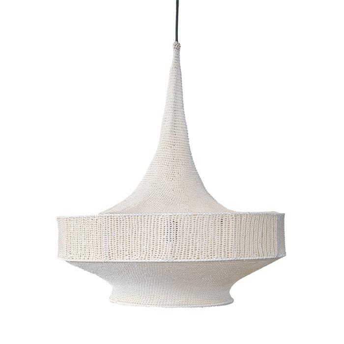 Petite Lily Interiors Lampe supsension crochet - blanc cassé