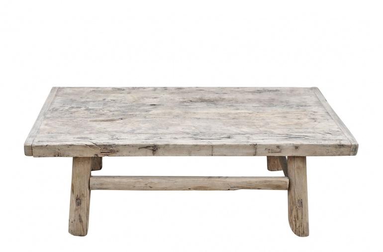 Petite Lily Interiors Table basse vintage en Bois peuplier - 116x69xh38cm - Piece Unique