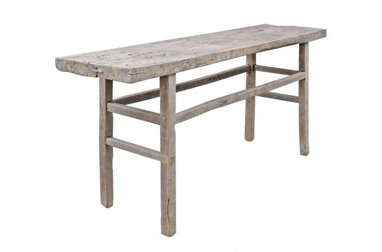 Petite Lily Interiors Console/desk vintage raw wood - L177x48xh80cm - unique piece